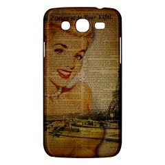 Yellow Dress Blonde Beauty   Samsung Galaxy Mega 5 8 I9152 Hardshell Case