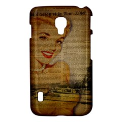 Yellow Dress Blonde Beauty   LG P715 (Optimus L7 II) Hardshell Case