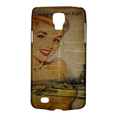 Yellow Dress Blonde Beauty   Samsung Galaxy S4 Active (I9295) Hardshell Case