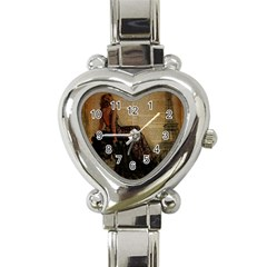 Elegant Evening Gown Lady Vintage Newspaper Print Pin Up Girl Paris Eiffel Tower Heart Italian Charm Watch