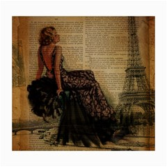 Elegant Evening Gown Lady Vintage Newspaper Print Pin Up Girl Paris Eiffel Tower Canvas 16  X 20  (unframed)