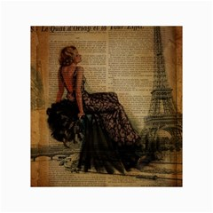Elegant Evening Gown Lady Vintage Newspaper Print Pin Up Girl Paris Eiffel Tower Canvas 18  x 24  (Unframed)