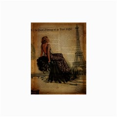 Elegant Evening Gown Lady Vintage Newspaper Print Pin Up Girl Paris Eiffel Tower Canvas 24  x 36  (Unframed)