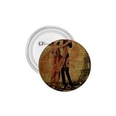 Vintage Paris Eiffel Tower Elegant Dancing Waltz Dance Couple  1.75  Button