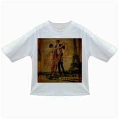 Vintage Paris Eiffel Tower Elegant Dancing Waltz Dance Couple  Baby T-shirt