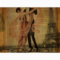Vintage Paris Eiffel Tower Elegant Dancing Waltz Dance Couple  Canvas 12  x 16  (Unframed)