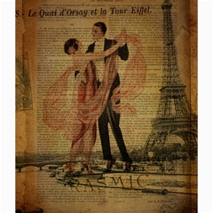 Vintage Paris Eiffel Tower Elegant Dancing Waltz Dance Couple  Canvas 20  x 20  (Unframed)