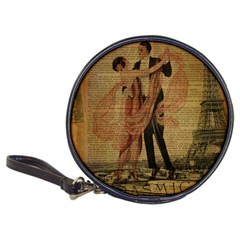 Vintage Paris Eiffel Tower Elegant Dancing Waltz Dance Couple  CD Wallet