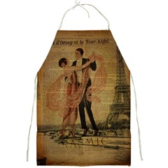 Vintage Paris Eiffel Tower Elegant Dancing Waltz Dance Couple  Apron