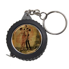 Vintage Paris Eiffel Tower Elegant Dancing Waltz Dance Couple  Measuring Tape