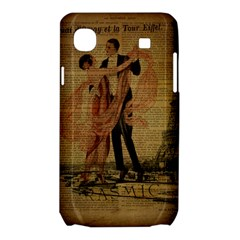 Vintage Paris Eiffel Tower Elegant Dancing Waltz Dance Couple  Samsung Galaxy SL i9003 Hardshell Case