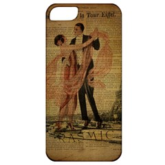 Vintage Paris Eiffel Tower Elegant Dancing Waltz Dance Couple  Apple Iphone 5 Classic Hardshell Case