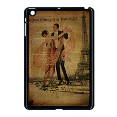 Vintage Paris Eiffel Tower Elegant Dancing Waltz Dance Couple  Apple iPad Mini Case (Black)