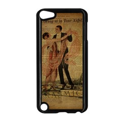 Vintage Paris Eiffel Tower Elegant Dancing Waltz Dance Couple  Apple iPod Touch 5 Case (Black)