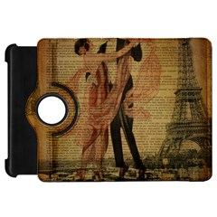 Vintage Paris Eiffel Tower Elegant Dancing Waltz Dance Couple  Kindle Fire HD 7  Flip 360 Case