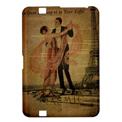 Vintage Paris Eiffel Tower Elegant Dancing Waltz Dance Couple  Kindle Fire HD 8.9  Hardshell Case