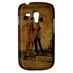 Vintage Paris Eiffel Tower Elegant Dancing Waltz Dance Couple  Samsung Galaxy S3 MINI I8190 Hardshell Case