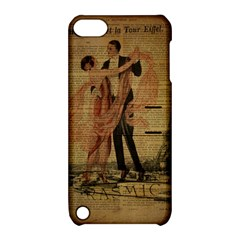 Vintage Paris Eiffel Tower Elegant Dancing Waltz Dance Couple  Apple Ipod Touch 5 Hardshell Case With Stand