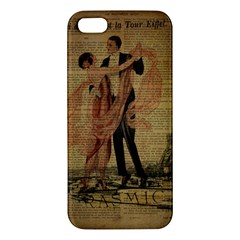 Vintage Paris Eiffel Tower Elegant Dancing Waltz Dance Couple  Iphone 5 Premium Hardshell Case