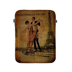 Vintage Paris Eiffel Tower Elegant Dancing Waltz Dance Couple  Apple iPad 2/3/4 Protective Soft Case
