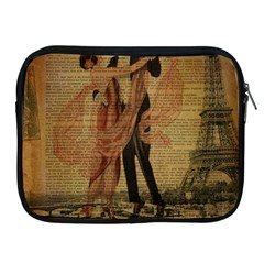 Vintage Paris Eiffel Tower Elegant Dancing Waltz Dance Couple  Apple iPad 2/3/4 Zipper Case