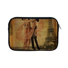 Vintage Paris Eiffel Tower Elegant Dancing Waltz Dance Couple  Apple iPad Mini Zipper Case