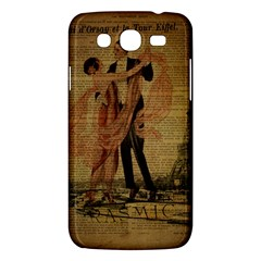 Vintage Paris Eiffel Tower Elegant Dancing Waltz Dance Couple  Samsung Galaxy Mega 5.8 I9152 Hardshell Case