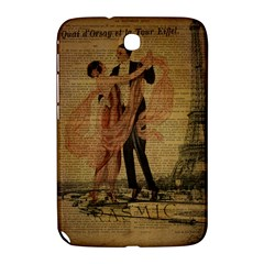 Vintage Paris Eiffel Tower Elegant Dancing Waltz Dance Couple  Samsung Galaxy Note 8 0 N5100 Hardshell Case