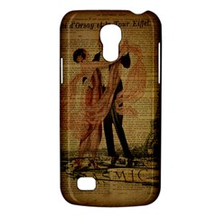 Vintage Paris Eiffel Tower Elegant Dancing Waltz Dance Couple  Samsung Galaxy S4 Mini Hardshell Case