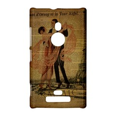 Vintage Paris Eiffel Tower Elegant Dancing Waltz Dance Couple  Nokia Lumia 925 Hardshell Case