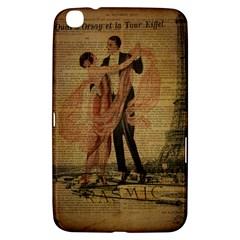 Vintage Paris Eiffel Tower Elegant Dancing Waltz Dance Couple  Samsung Galaxy Tab 3 (8 ) T3100 Hardshell Case
