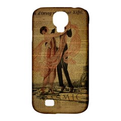 Vintage Paris Eiffel Tower Elegant Dancing Waltz Dance Couple  Samsung Galaxy S4 Classic Hardshell Case (PC+Silicone)