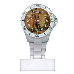 Vintage Paris Eiffel Tower Elegant Dancing Waltz Dance Couple  Nurses Watch