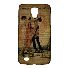 Vintage Paris Eiffel Tower Elegant Dancing Waltz Dance Couple  Samsung Galaxy S4 Active (i9295) Hardshell Case