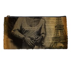 Romantic Kissing Couple Love Vintage Paris Eiffel Tower Pencil Case