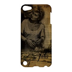 Romantic Kissing Couple Love Vintage Paris Eiffel Tower Apple Ipod Touch 5 Hardshell Case