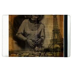 Romantic Kissing Couple Love Vintage Paris Eiffel Tower Apple Ipad 3/4 Flip Case