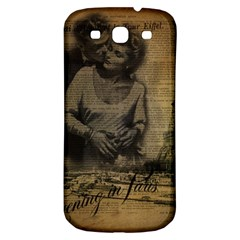 Romantic Kissing Couple Love Vintage Paris Eiffel Tower Samsung Galaxy S3 S Iii Classic Hardshell Back Case