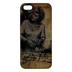 Romantic Kissing Couple Love Vintage Paris Eiffel Tower Iphone 5 Premium Hardshell Case