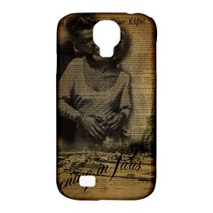 Romantic Kissing Couple Love Vintage Paris Eiffel Tower Samsung Galaxy S4 Classic Hardshell Case (PC+Silicone)