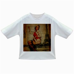 Vintage Newspaper Print Pin Up Girl Paris Eiffel Tower Funny Vintage Retro Nurse  Baby T-shirt