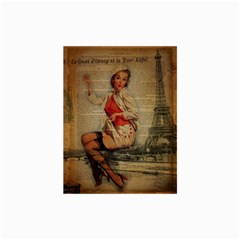 Vintage Newspaper Print Pin Up Girl Paris Eiffel Tower Funny Vintage Retro Nurse  Canvas 24  x 36  (Unframed)