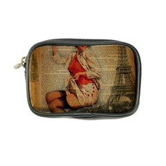 Vintage Newspaper Print Pin Up Girl Paris Eiffel Tower Funny Vintage Retro Nurse  Coin Purse