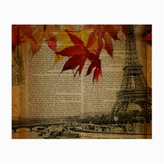 Elegant Fall Autumn Leaves Vintage Paris Eiffel Tower Landscape Glasses Cloth (Small)