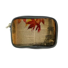 Elegant Fall Autumn Leaves Vintage Paris Eiffel Tower Landscape Coin Purse