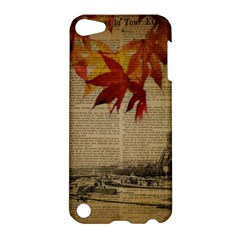 Elegant Fall Autumn Leaves Vintage Paris Eiffel Tower Landscape Apple iPod Touch 5 Hardshell Case