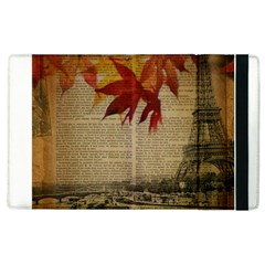 Elegant Fall Autumn Leaves Vintage Paris Eiffel Tower Landscape Apple Ipad 2 Flip Case