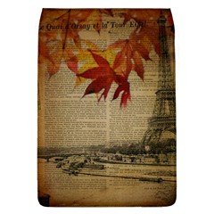 Elegant Fall Autumn Leaves Vintage Paris Eiffel Tower Landscape Removable Flap Cover (large)