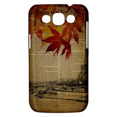 Elegant Fall Autumn Leaves Vintage Paris Eiffel Tower Landscape Samsung Galaxy Win I8550 Hardshell Case