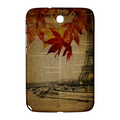 Elegant Fall Autumn Leaves Vintage Paris Eiffel Tower Landscape Samsung Galaxy Note 8.0 N5100 Hardshell Case